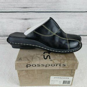 NEW Passports 'GREAT' Leather Mules Slip on shoes…